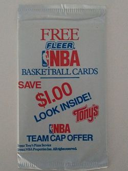 Vintage 1992 Fleer Basketball Cards(Tony's Pizza Limited Edition 2 Card Pack) Unopened for Sale in Orlando,  FL