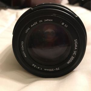Sigma Macro 70-210 , Perfect Condition I wwith Landscape / and cover and carrying case. I also have several other items like battery chargers for Sale in Everett, WA