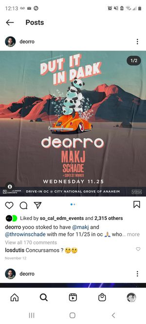 Deorro @City National Grove of Anaheim for Sale in South El Monte, CA