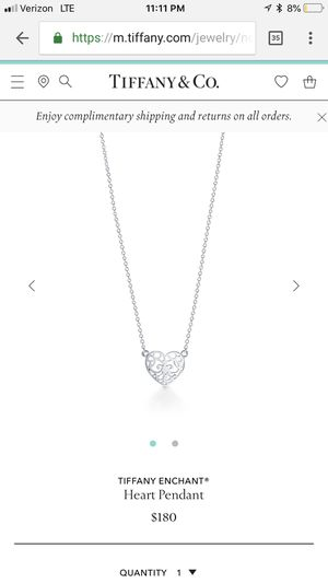 Tiffany Heart Choker for Sale in Hartford, CT