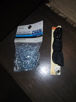 Dog Metal Tie Chain And Leash for Sale in Cleveland, OH
