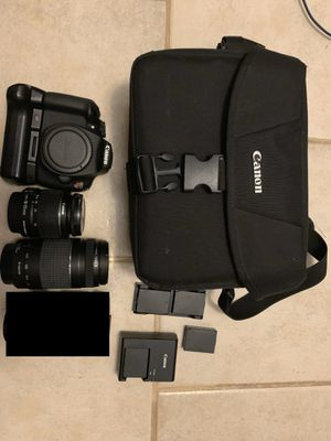 Canon Rebel T5 with 2 lenses extra batteries and a carrying case. for Sale in Kissimmee, FL