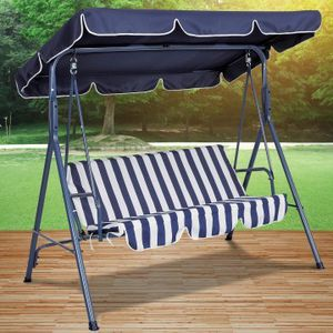 Blue or green stripped canopy swing chair for Sale in Southington, CT