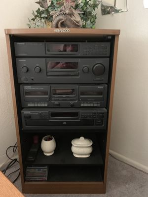 KENWOOD full STEREO unit w/2 matching TOWER SPEAKERS for Sale in Virginia Beach, VA
