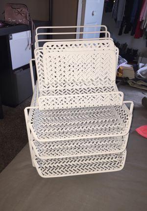 Desk paper organizer// White for Sale in Schaumburg, IL