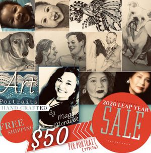 Hand Drawn Portraits for Sale in Lumberton, TX