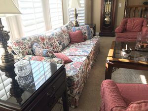 Drexel end Tables and coffee table, couch and 2 chairs for Sale in Riverside, CA