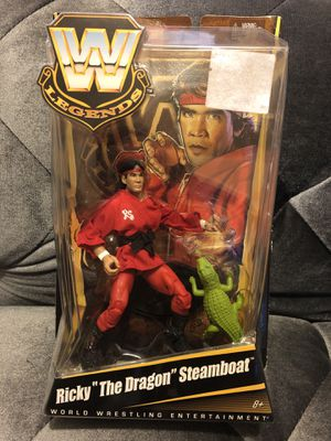 WWE Legends Series 1 Ricky The Dragon Steamboat Figure Factory Sealed New for Sale in Fresno, CA