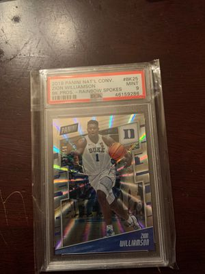 2019 National Convention ZION WILLIAMSON RAINBOW SPOKES PELICANS /50 PSA 9 for Sale in Tacoma, WA