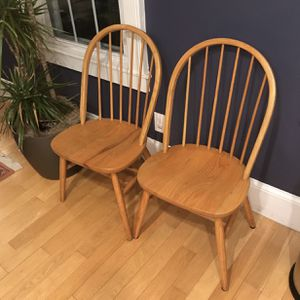 2 Solid Oak Chairs for Sale in Boston, MA