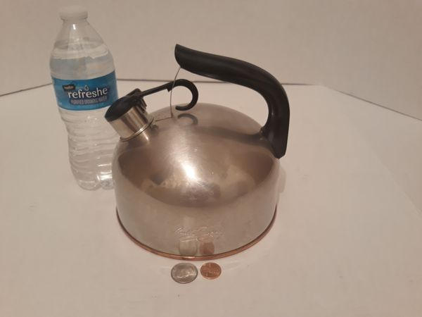 Vintage Metal Paul Revere Tea Pot, Tea Kettle, Made in USA, Copper Bottom, Kitchen Decor, Hanging Decor, Quality Teapot