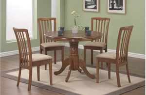 Simple Light Brown Dining Table Set by Coaster (Table &4 Chairs) for Sale in Richardson, TX