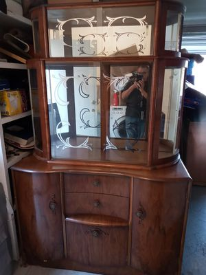 China hutch antique 48 by 76 for Sale in Irvine, CA