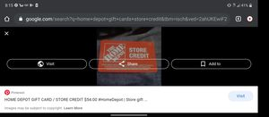 Homedepot store credit$400 for $200 for Sale in San Marcos, CA