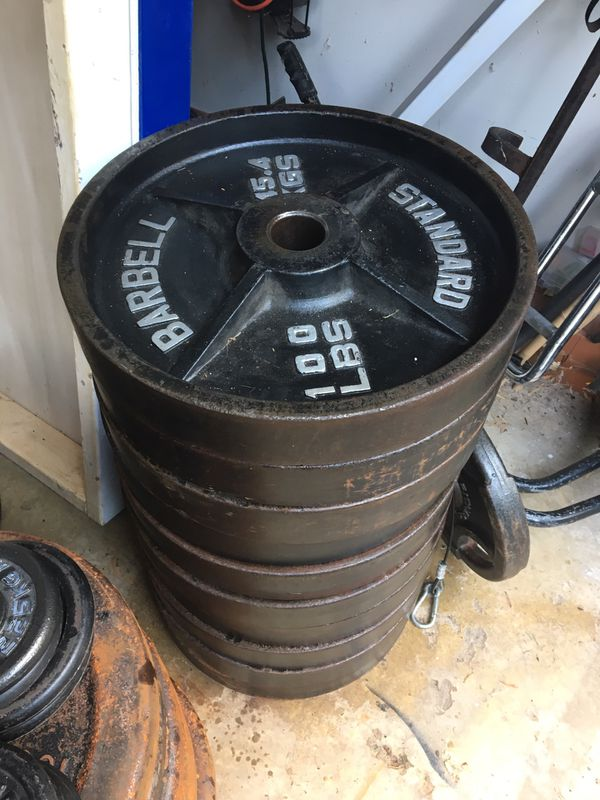 100lb Olympic weight plates