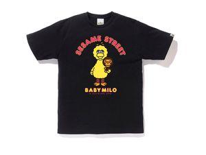 Bape X Sesame Street Milo and Big Bird Tee Black Size Small for Sale in Miami Gardens, FL