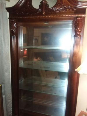 Tall display case with lite for Sale in Lancaster, PA