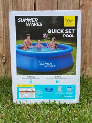 Summer Waves 10ft Quick Set Ring Pool with 600 GPH Filter Pump BRAND NEW for Sale in Fairfax, VA