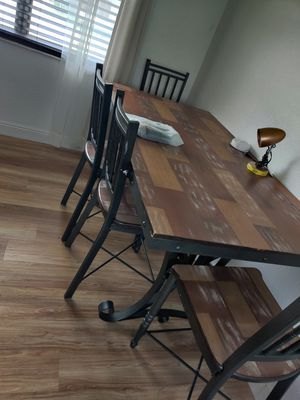 Dinner with 4 chairs and a server for Sale in Miami, FL