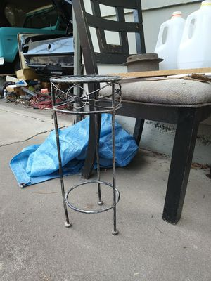 Small metal table for a potted plant for Sale in Stockton, CA