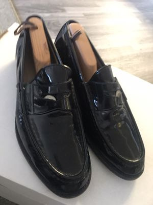 Gucci mens black patent leather penny loafers size 10D for Sale in Las Vegas, NV