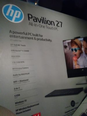 27 inch HP Pavilion all-in-one touch screen desktop for Sale in Magna, UT