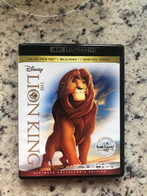 Disney Classic The Lion King 4K + Blu-ray LIKE NEW! for Sale in San Diego, CA
