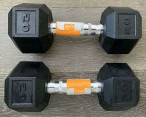 New set of 20 lb. dumbbells- rubber coated hex Cap brand for Sale in Grand Rapids, MI