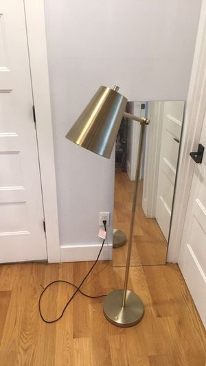 Gold floor lamp for Sale in Brooklyn, NY