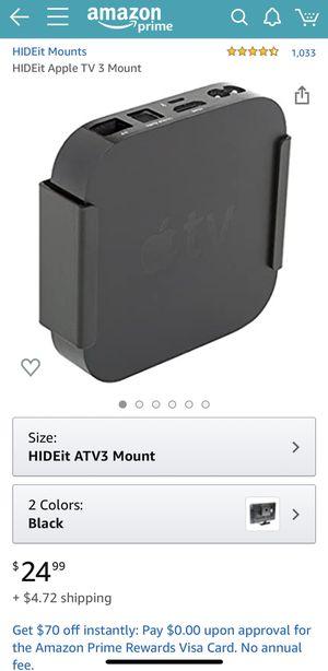 NEW Hideit Mount ATV3 2nd/3rd Gen Black for Sale in Renton, WA