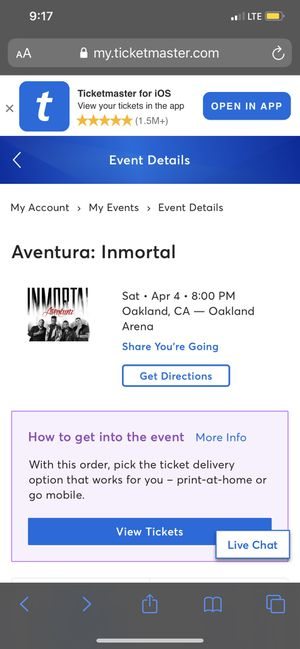 Aventura Tickets for Sale in Willows, CA
