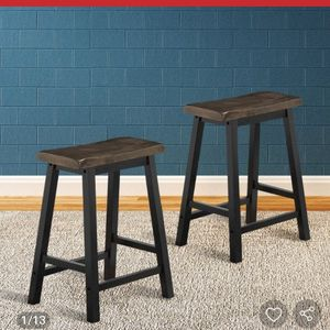 "24"" Height Set of 2 Home Kitchen Dining Room Bar Stools HW58978GR Retails 89 for Sale in Fontana, CA"