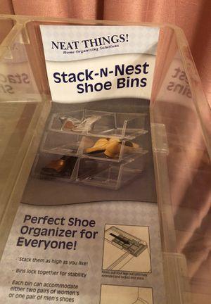 Stack-N-Nest Shoe Bins for Sale in Carrollton, TX