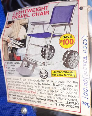 Aluminum folding wheelchair for Sale in Lewis McChord, WA