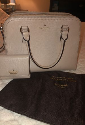 Matching Cream colored Kate Spade purse and wallet for Sale in Bloomington, IL