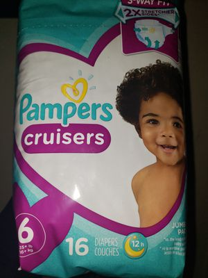Pampers size 6 for Sale in Colton, CA