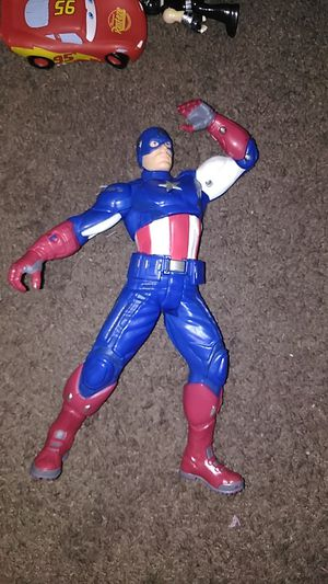 Captain america large figure talks and sound avengers marvel comics for Sale in Las Vegas, NV