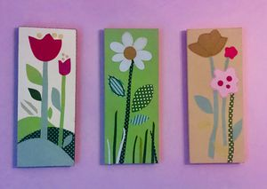 Beautiful Tri-Floral Art Canvases for Sale in Evergreen, CO