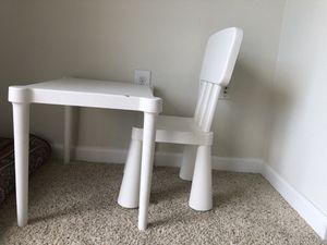 Ikea kids table and chair for Sale in Fairfax, VA
