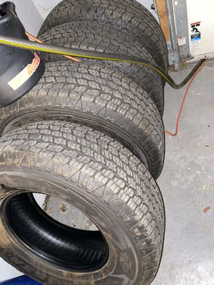 Goodyear Wrangler AT with Kevlar 265/70/16 - less than 1,000 miles on them for Sale in Plymouth, PA