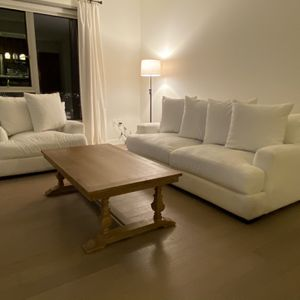 White Stella Sofa & Chair - Purchased from ZGallerie for Sale in Los Angeles, CA