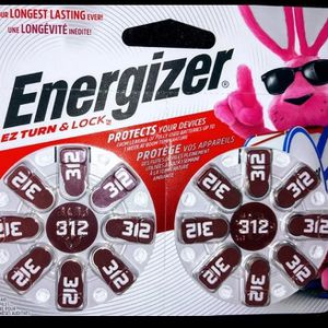 Energizer Hearing Aid Batteries, EZ Turn & Lock Size 312 (16 Pack) for Sale in Westerly, RI