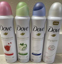 NEW DOVE DEODORANTS DRY SPRAY 48HR FRESH CLEAN for Sale in Tacoma,  WA
