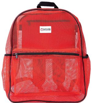 SHYLERO Mesh Backpack XL (40L). 100% Clear Backpack with Key Holder, Bottle Opener, Inner Zippered Pocket. H20 xW16 xD8 for Sale in Trabuco Canyon, CA