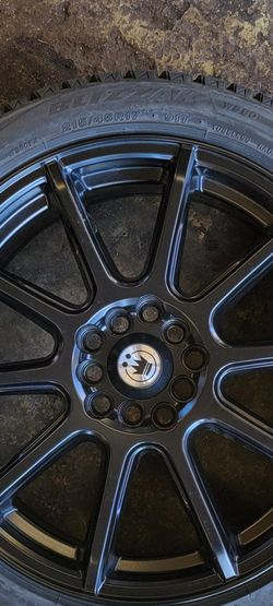 KONIG CONTROL BLACK Wheels 17X7 +45 5X100/114.3 With Blizzaks WINTER TIRES for Sale in Bolingbrook,  IL