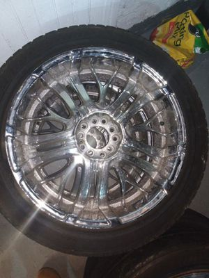 22inch chrome rims with tires for Sale in Irvington, NJ