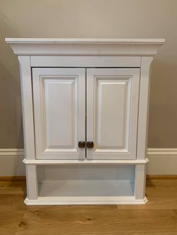 Home Decorators Collection Moorpark 24 in. W Wall Cabinet in White for Sale in Apex,  NC