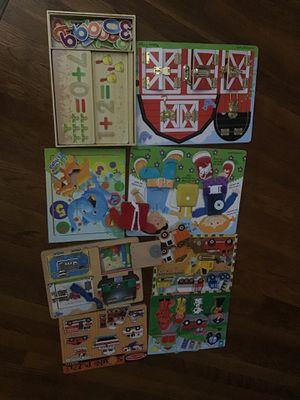 Puzzles games educational Melissa & Doug sounds kids boys girls for Sale in El Cajon, CA