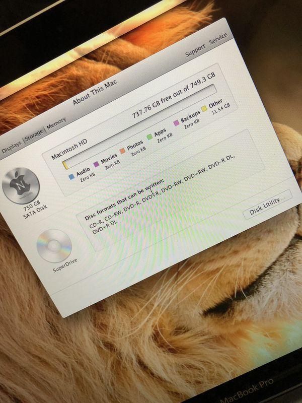 Macbook Pro 750gb