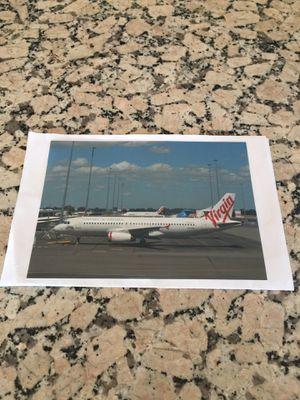 Virgin Australia Airbus color photograph for Sale in Los Angeles, CA